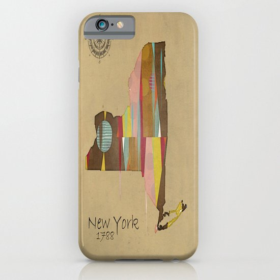 new york state map iPhone & iPod Case