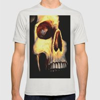 Skull Mens Fitted Tee Silver SMALL