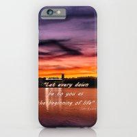 iPhone & iPod Case featuring Sun dusk over Boston College by LudaNayvelt