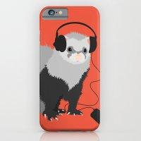 Music Loving Ferret iPhone 6 Slim Case