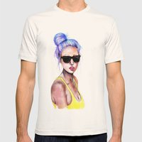 Little Blue Bun Mens Fitted Tee Natural SMALL