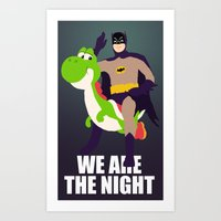 We are the night Art Print