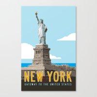 New York Travel Poster Canvas Print