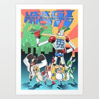 Usagi Battle Squadron Go!! Art Print