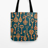 Yellow And Red Skeleton … Tote Bag