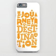Orange Type Journey Quote  Slim Case iPhone 6s