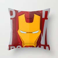 B*tch i'm ironman Throw Pillow