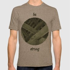 Strong Mens Fitted Tee Tri-Coffee SMALL