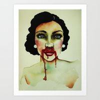 Bout with blood Art Print