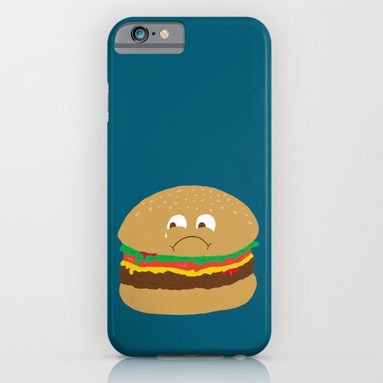 Sad Hamburger iPhone & iPod Case