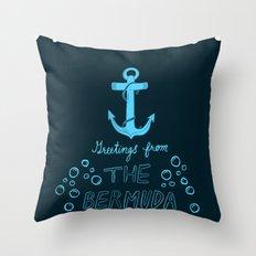 Bermuda Triangle Throw Pillow
