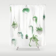 Urban Greenery: Part 1 Shower Curtain