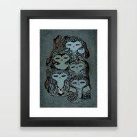 Night Owls Framed Art Print