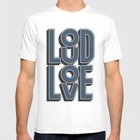 LOUD LOVE Mens Fitted Tee White SMALL