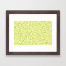 Wallflower - Butter Yellow Framed Art Print