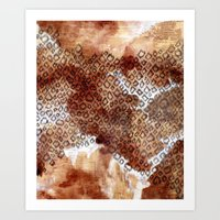 The Skin Of Cheetah Art Print
