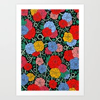 Art Print featuring FLOWERS FROM THE SOUTH by Ana Depuntillas