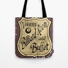 Vintage Vancouver Billiard Sign Tote Bag
