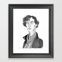 Benedict Cumberbatch - S… Framed Art Print