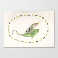 The Horned Anole Canvas Print