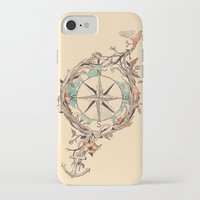 orange iPhone & iPod Cases featuring Bon Voyage by Norman Duenas