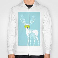 Blue Deer with sunglasses on  Hoody