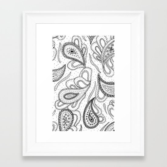 Lovely Paisley Framed Art Print