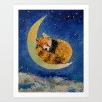 Red Panda Dreams Art Print