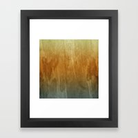 Earthy Water Color Abstr… Framed Art Print