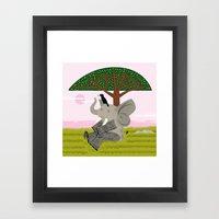 The Elephant And The Eag… Framed Art Print