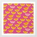 Summer Citrus Art Print