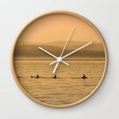 Orca Play Wall Clock