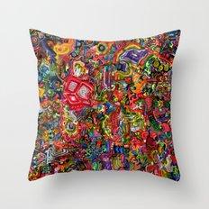 Planetary Funk Throw Pillow
