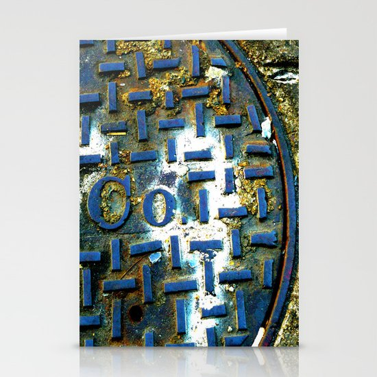 Deep Blue Metal Stationery Card