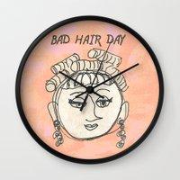 Bad Hair Day Wall Clock