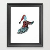 terrified Framed Art Print