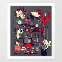 From The Womb To The Tom… Art Print
