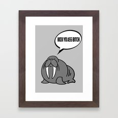 Angry Walrus Framed Art Print
