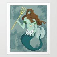 Merman Art Print