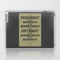 Pessimist / Optimist Laptop & iPad Skin