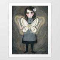 The Moth Girl Art Print