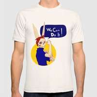 Female Bunnism Mens Fitted Tee Natural SMALL