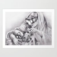 In which Robo-Jesus is a thing. Art Print
