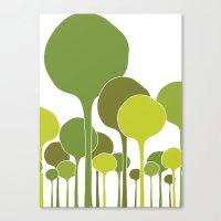 Green Palette Canvas Print