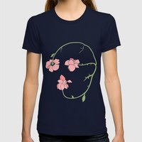 Memento Mori Womens Fitted Tee Navy SMALL