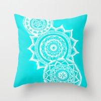 The Blue Mandalas Throw Pillow