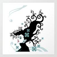 Audrey Hepburn Natural L… Art Print