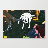 SHINY HAPPY PEOPLE Canvas Print