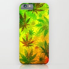 Marijuana Leaves Rasta Colors Slim Case iPhone 6s