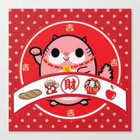 Lucky Charm Pink Lady Canvas Print